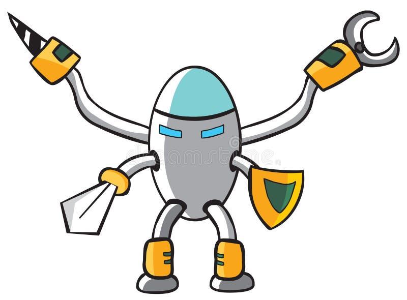 Chevalier de robot illustration de vecteur