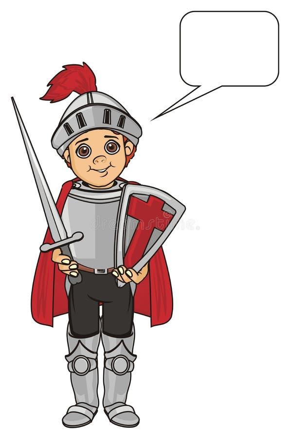 Chevalier et signe propre illustration de vecteur