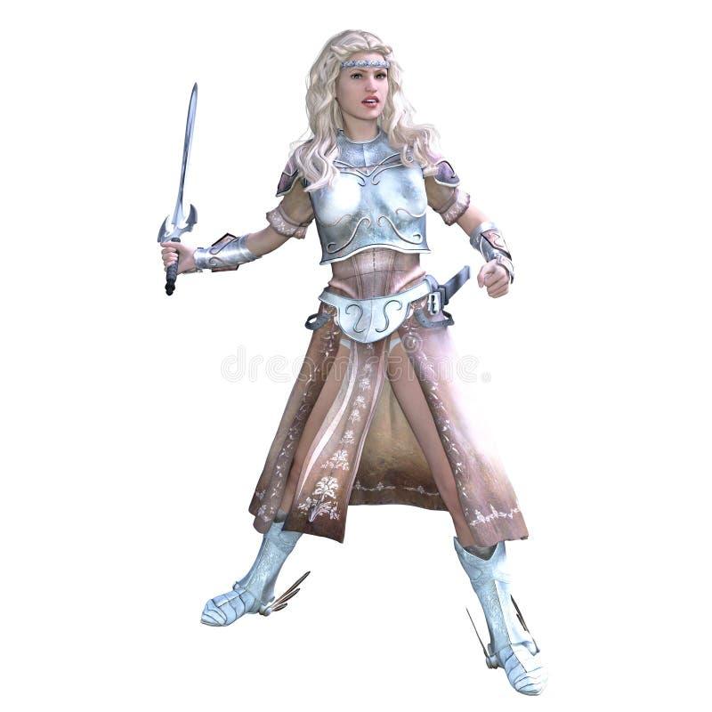 Chevalier féminin illustration de vecteur