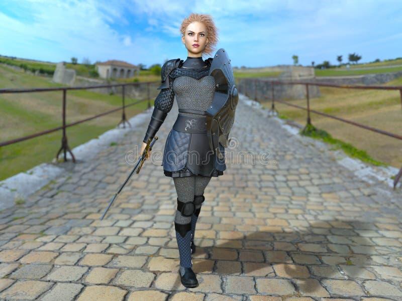 Chevalier féminin images stock