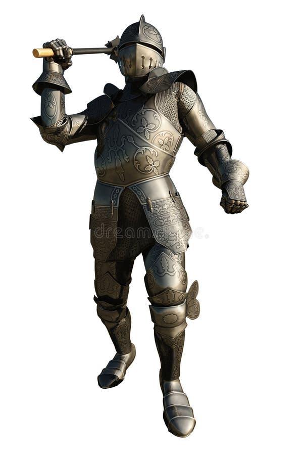Chevalier médiéval avec le macis illustration libre de droits
