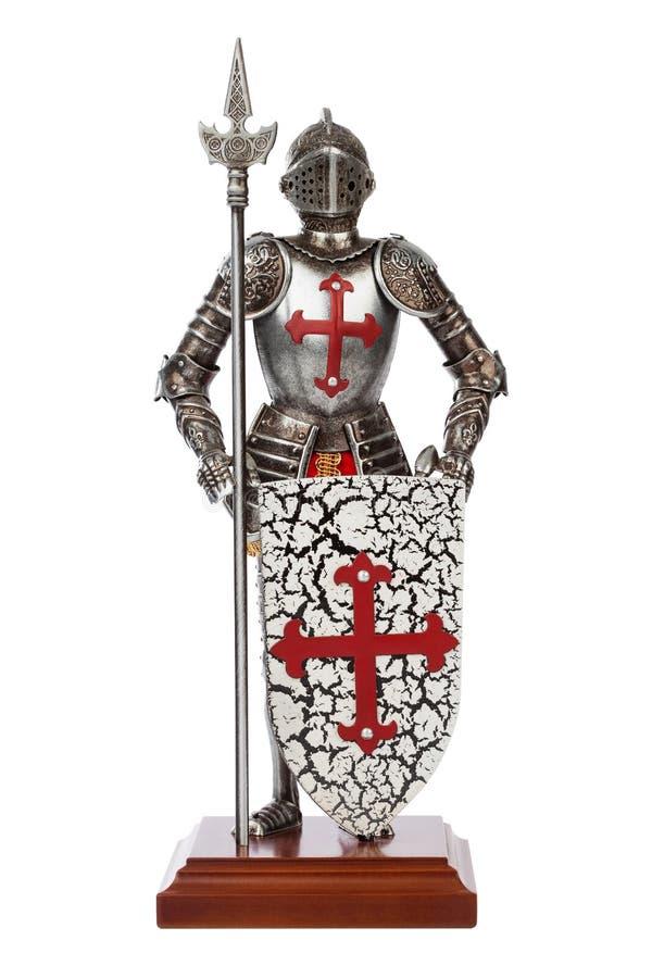 Chevalier médiéval de jouet photo libre de droits