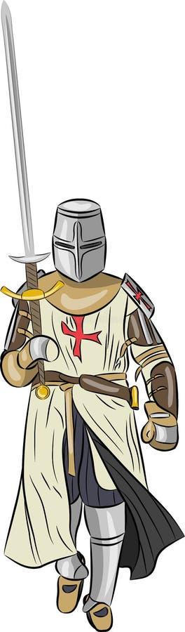 Chevalier médiéval de vecteur illustration stock