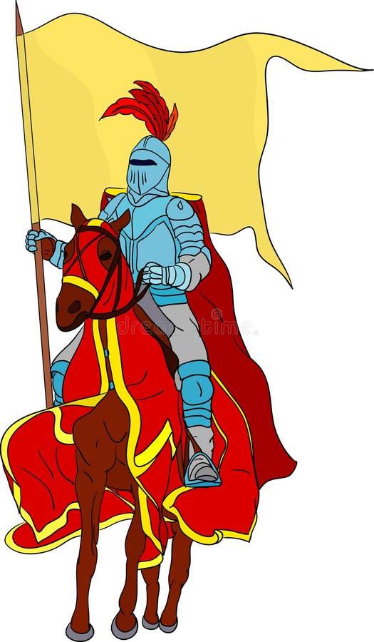 Chevalier sur le cheval illustration libre de droits