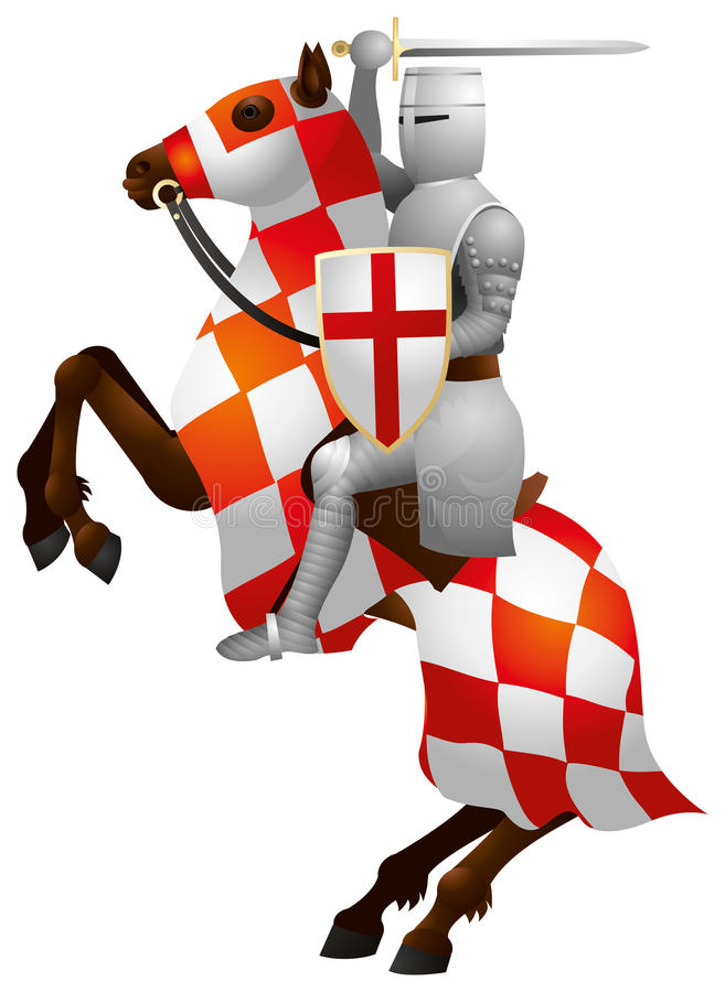 Chevalier sur le cheval, croisé illustration de vecteur