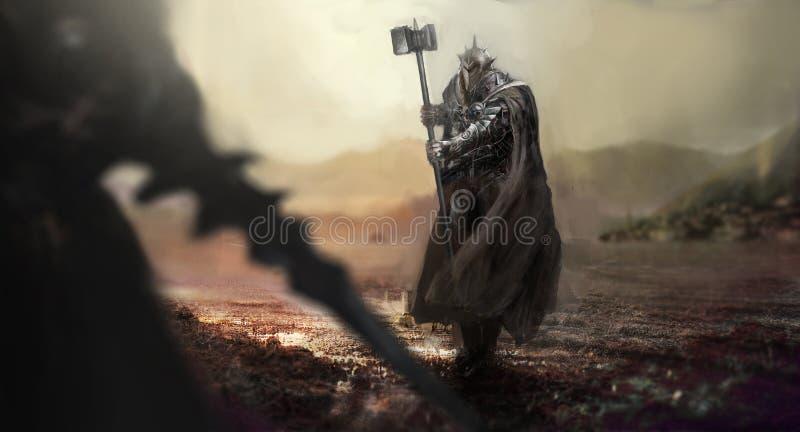 chevaliers illustration de vecteur