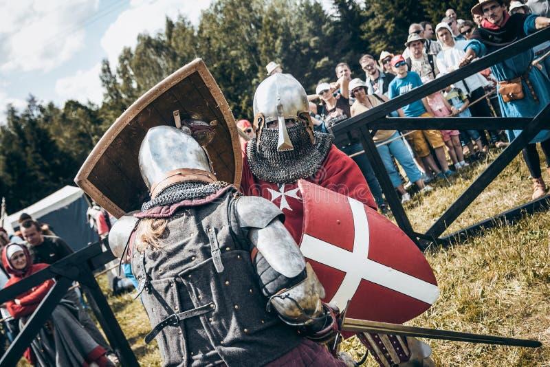 chevaliers photo stock