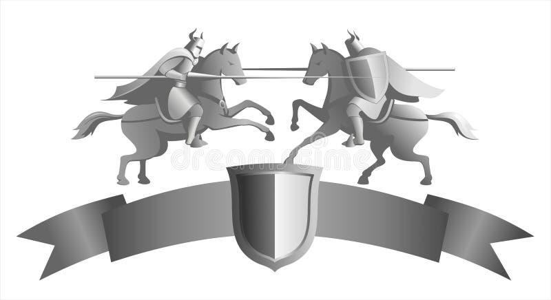 Chevaliers illustration libre de droits