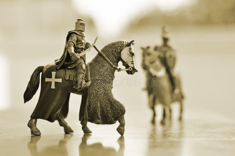 Chevaliers de cheval photos stock