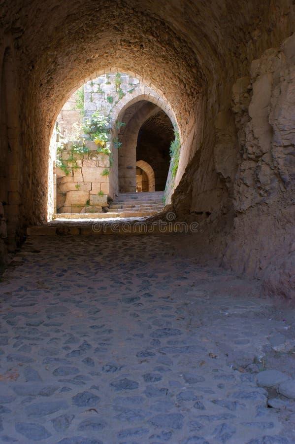 Chevaliers de DES de Krak, croisés forteresse, Syrie image libre de droits
