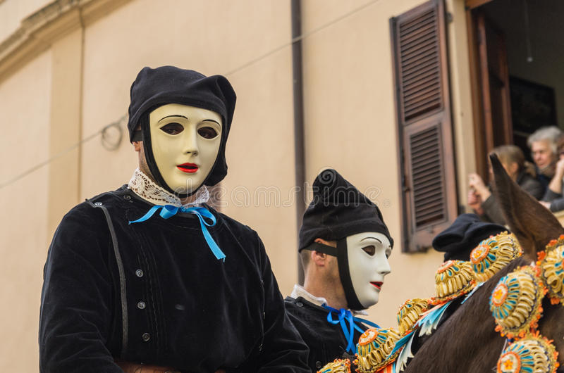 Chevaliers de Sartiglia photographie stock libre de droits