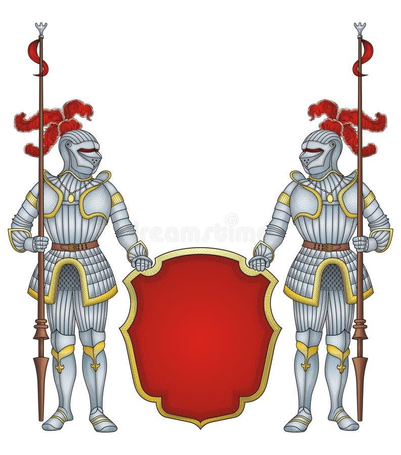 Chevaliers royaux de dispositif protecteur   illustration libre de droits