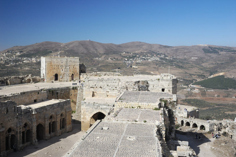 chevaliersdes-krak syria arkivbild