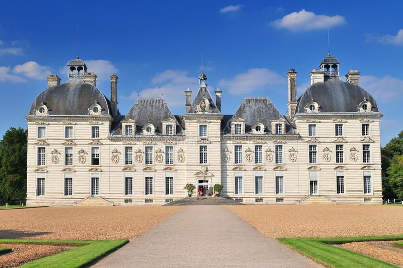 Cheverny Castle built in the seventeenth century in the style of Louis XIII in Cheverny France. stock photos