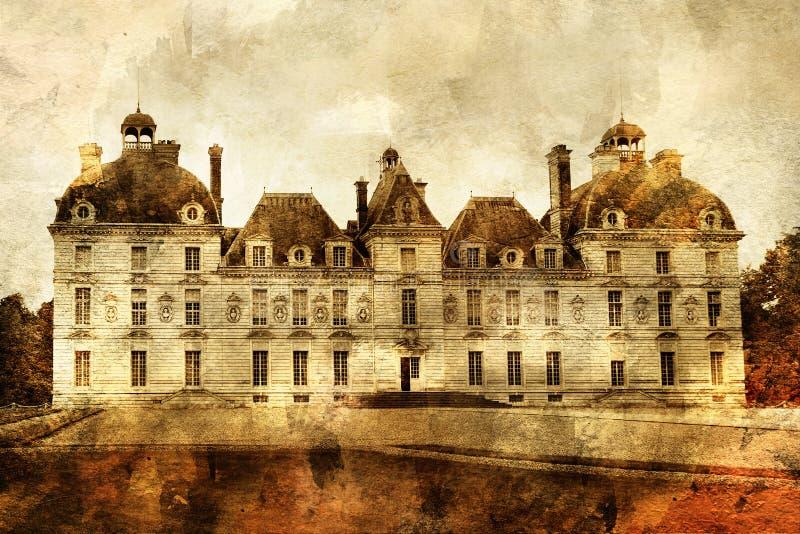 cheverny slott royaltyfri illustrationer