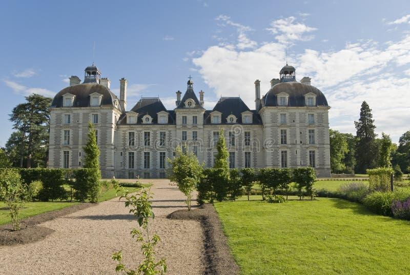 cheverny trädgård för chateau arkivbild