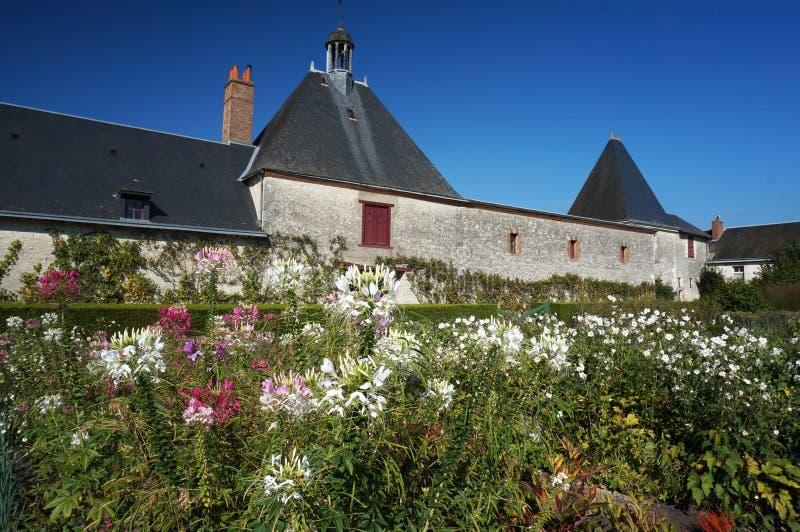 Chevernybloemen en Huis in Frankrijk royalty-vrije stock fotografie