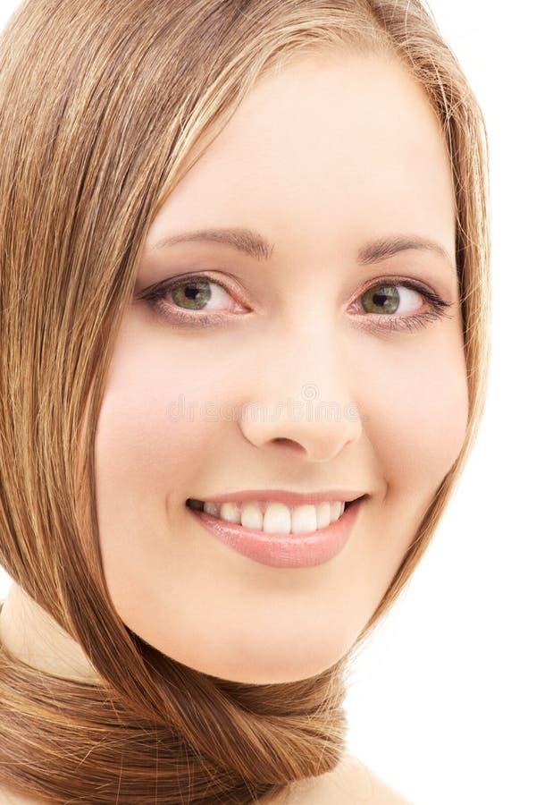 Download Cheveu image stock. Image du dame, visage, coiffure, closeup - 8668953