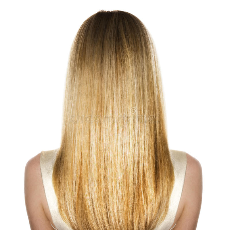 Cheveu blond photo libre de droits