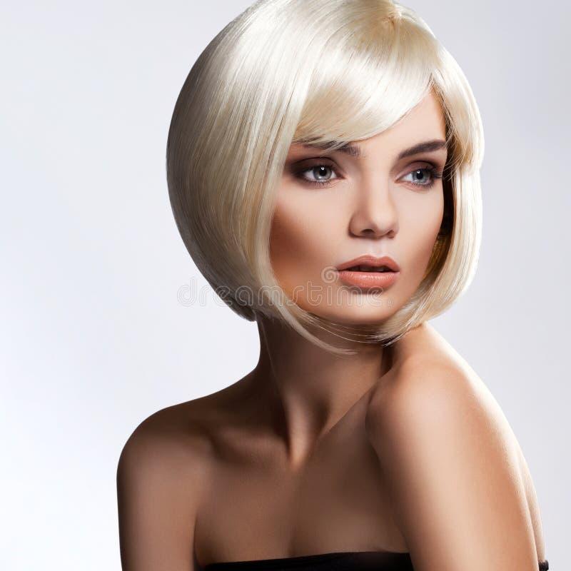 Cheveu blond. Image de haute qualité. image stock