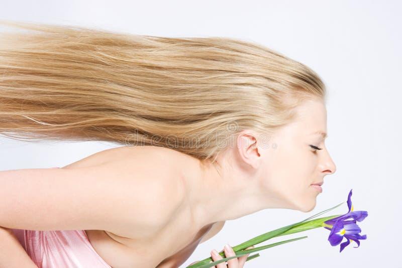 cheveu blond longtemps image libre de droits
