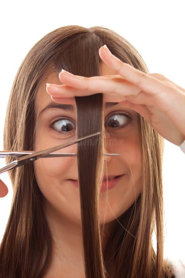 Cheveu de découpage photos stock