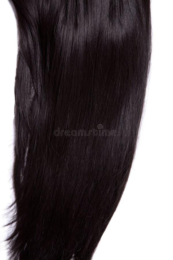 Cheveu droit brillant noir photos stock