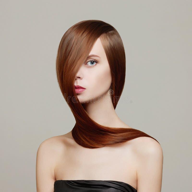 cheveu Femme de beauté photographie stock libre de droits