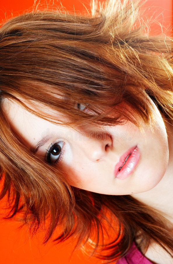 Cheveu gras.   photo libre de droits