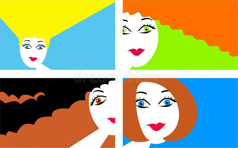 Cheveu moderne illustration stock