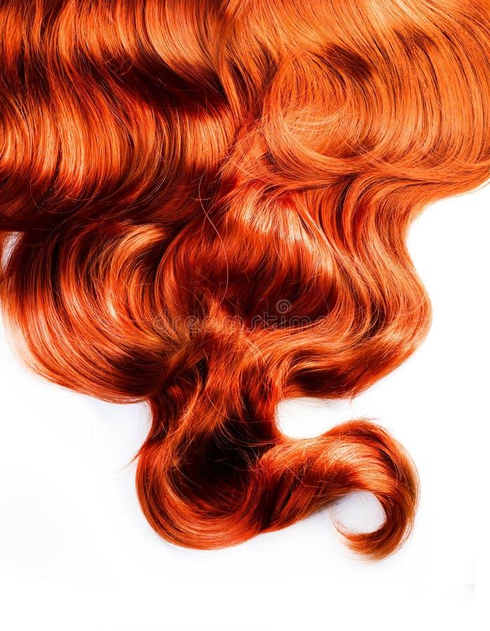 Cheveu rouge bouclé images stock