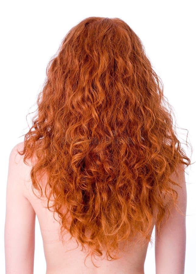 Cheveu rouge bouclé magnifique photographie stock