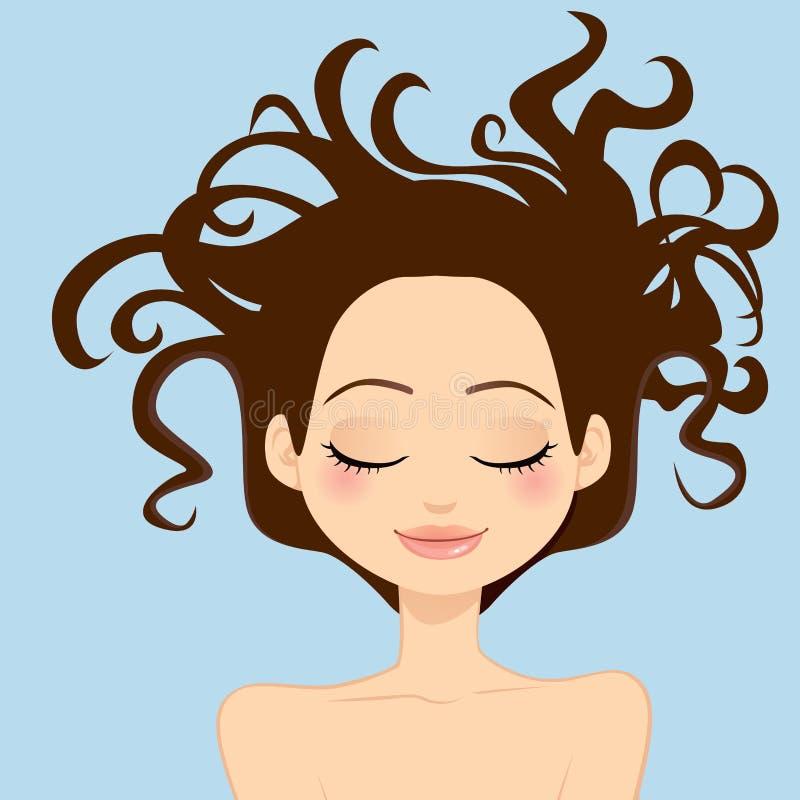 Cheveu sauvage de femme illustration libre de droits