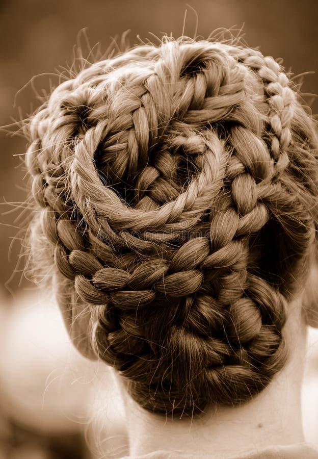 Cheveu tressé compliqué photographie stock libre de droits