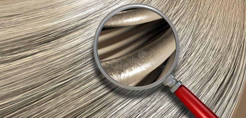 Cheveux blonds soufflant avec le rapport optique photos stock