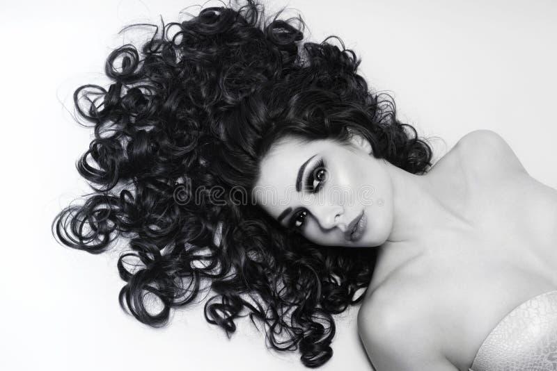 Cheveux bouclés photo libre de droits