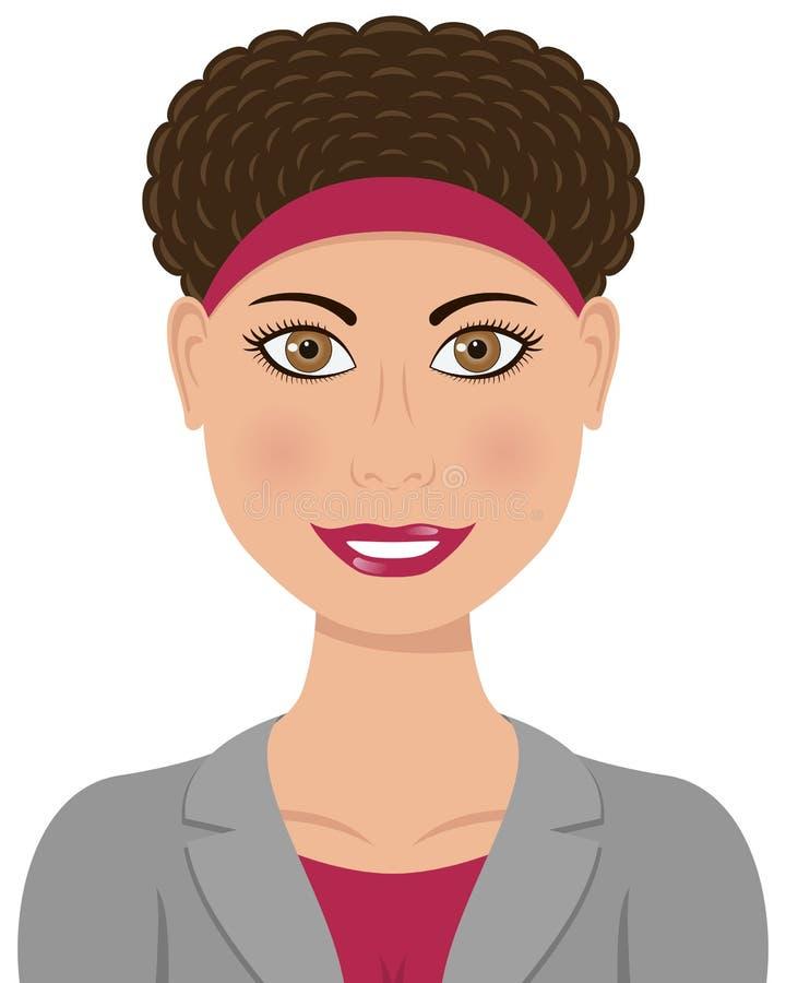 Cheveux caucasiens de Brown de femme d'affaires illustration de vecteur