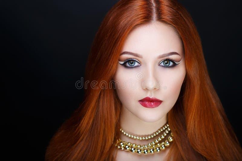 Cheveux d'orange de femme photos libres de droits