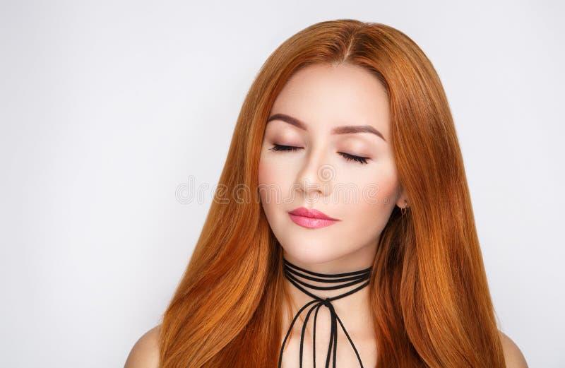 Cheveux d'orange de femme images libres de droits