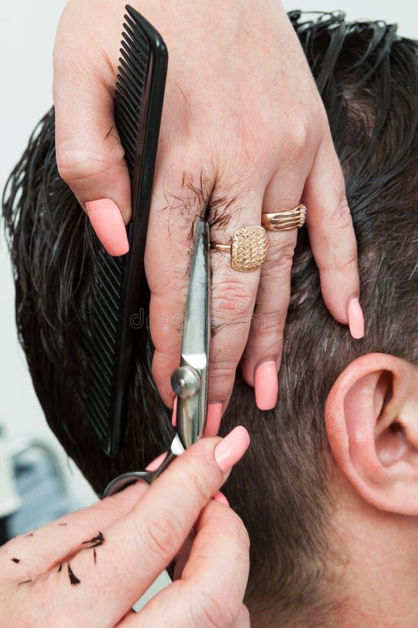 Cheveux de coupe photos libres de droits