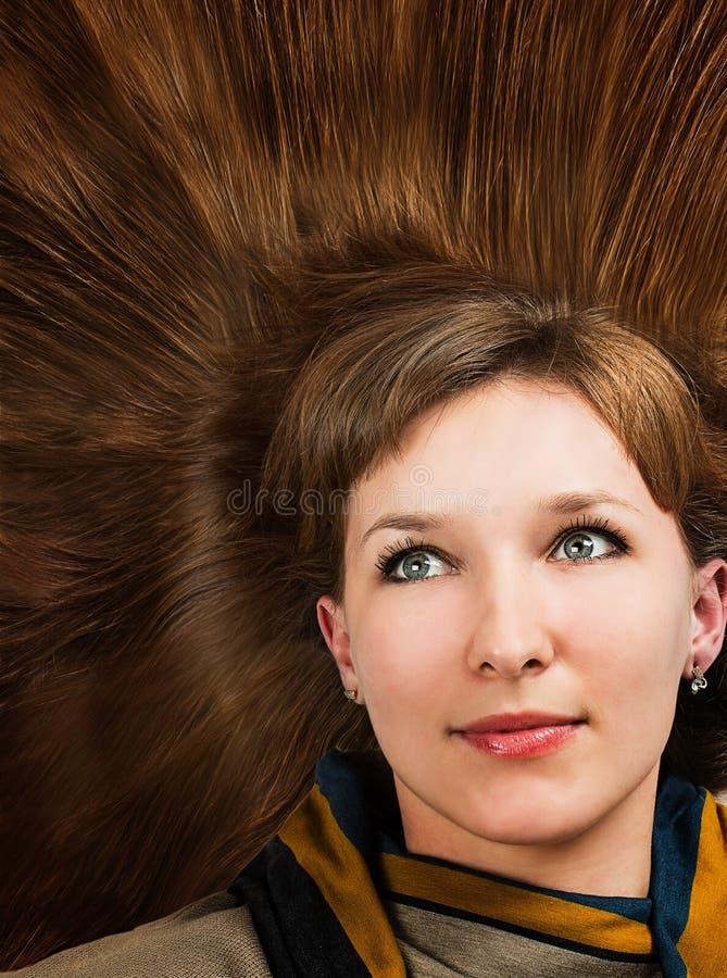 Cheveux de femme photographie stock libre de droits