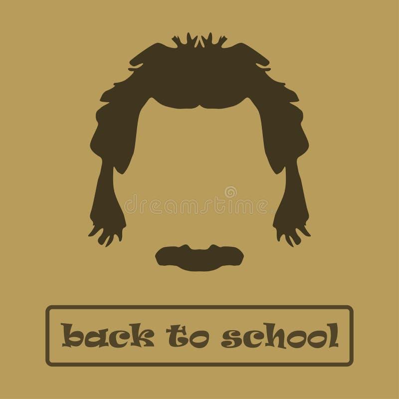 Cheveux et moustache Einstein d'icône Illustration de vecteur illustration de vecteur