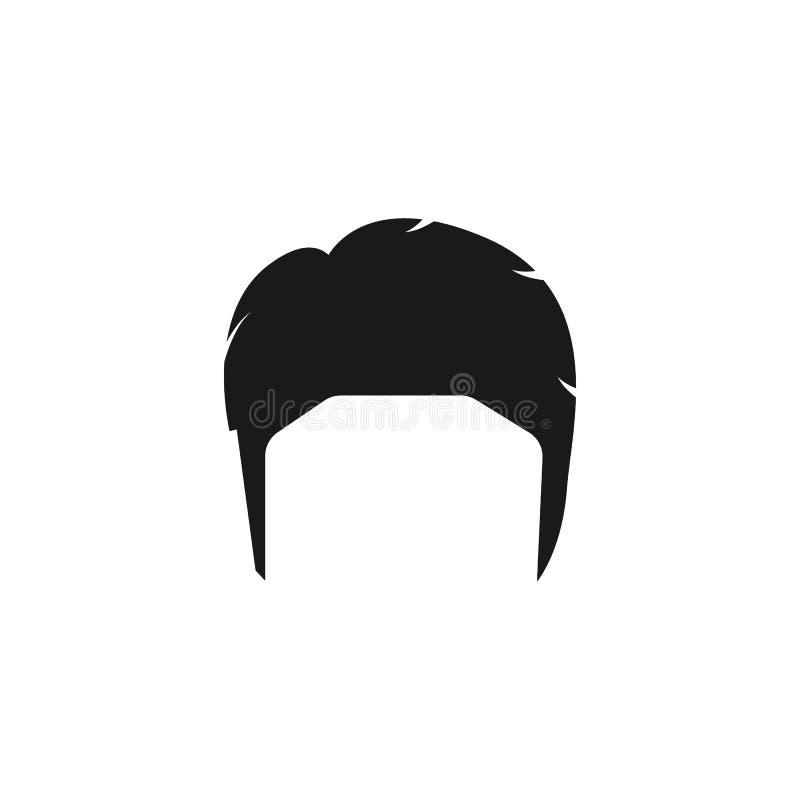 cheveux, femme, coupe de cheveux, icône de César illustration libre de droits