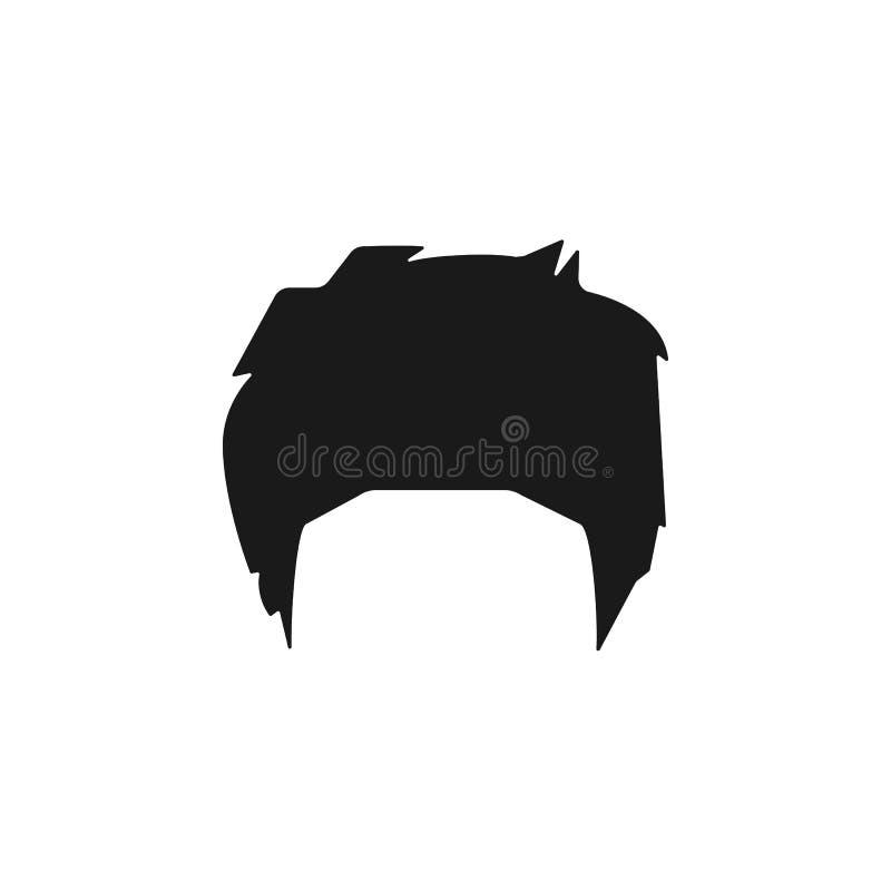 cheveux, femme, coupe de cheveux, icône de César illustration de vecteur