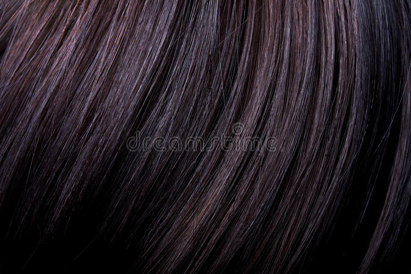 Cheveux noirs femelles image libre de droits