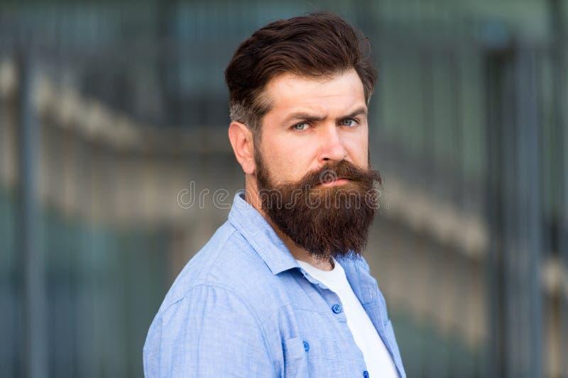 Cheveux non rasés de visage d'homme barbu Raseur-coiffeur et coiffeur Beaut? masculine Dénommer des astuces de cheveux Créez le s photo libre de droits