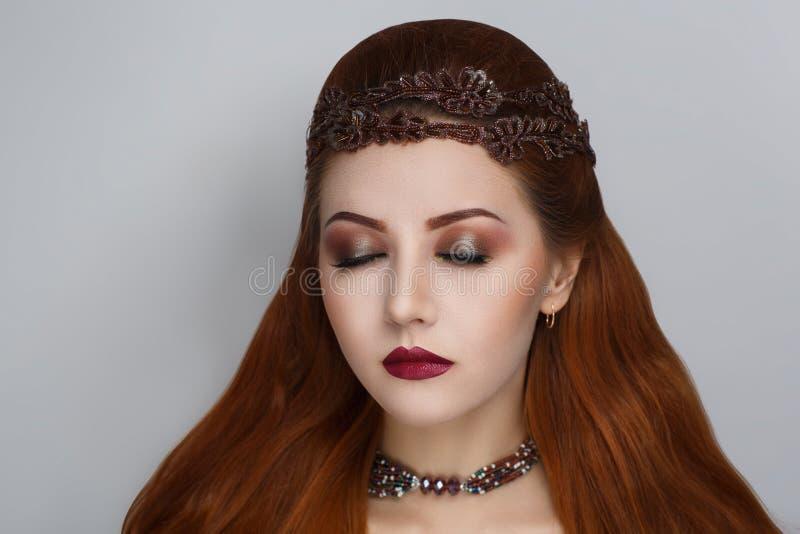 Cheveux oranges lumineux photographie stock