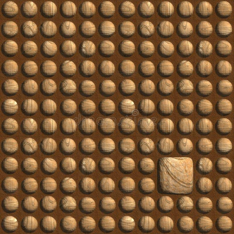 Cheville carrée dans un trou rond images stock