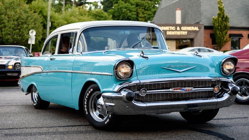 Chevrolet 1957 210 immagini stock