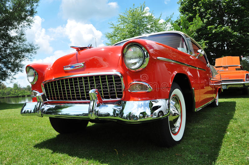 Chevrolet Bel Air dans le Car Show antique photos libres de droits